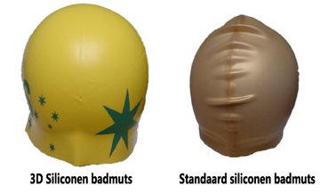 NIEUW! Siliconen 3D badmuts (bedrukt)